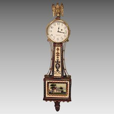 Foster S Campos Mini Banjo Clock Time Only Waltham 8 Day Movement Runs!