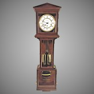Vintage Hamilton Wall Clock with Westminster Chimes Weights and Spring Driven Nice Wood Case