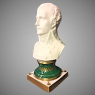 Young Napoleon Bust Porcelain and Bisque Made by Limoges of France
