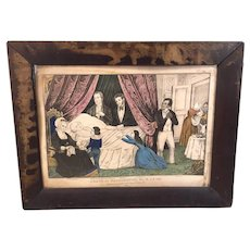 Death of George Washington Lithograph Published by James Baillie Plate # 253  Small Folio Circa 1845