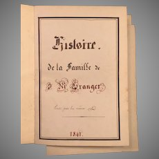 19th Century French Journal Great Details and Sketches  Mon Famille J M Granger  Jean Michel Granger 1822 - 1840 #2 of 2