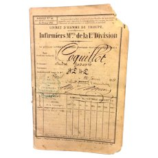 1861 Passport for Andre Joseph Coquillot with Vellum Cover