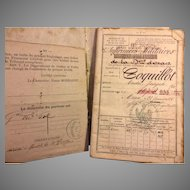 1862-1867 French Passport   for Andre Joseph Coquillot