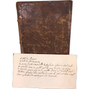 Antique Ledger in French Entries from 1792 to 1818 Henry Kursner