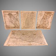 Antique Religious Maps of Holy Lands  Francis Shallus - Engraver 1790s to 1820  #1 of 3
