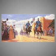 "Mort Kunstler Limited Edition Lithograph   ""Road to Glory"" #918 of 1,500   w/ COA and Original Packing Box  Stonewall Jackson Leaving VMI on April 1861"
