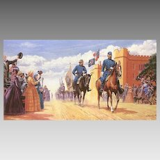 """Mort Kunstler Limited Edition Lithograph   """"Road to Glory"""" #918 of 1,500   w/ COA and Original Packing Box  Stonewall Jackson Leaving VMI on April 1861"""