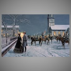 "Mort Kunstler Limited Edition Civil War Lithograph   ""Remember Me"" #387 of 3,000   w/ COA and Original Packing Box  Fredericksburg, VA Confederate Soldier Saying Goodbye to His Lady November 1862"
