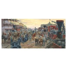 "Mort Kunstler Ltd Edition Lithograph   ""Jackson Commandeers the Railroad""   #1052 of 1100 w/ COA and Original Packing  Martinsburg, VA June 1861  (#1 of 2 Offered)"