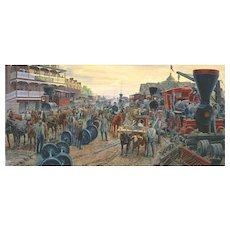 "Mort Kunstler Ltd Edition Lithograph   ""Jackson Commandeers the Railroad""   #1053 of 1100 w/ COA and Original Packing  Martinsburg, VA June 1861  (# 2 of 2 Offered)"