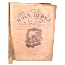Holy Bible by Charles Gaylord Boston 1832