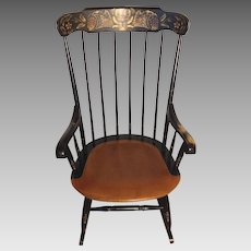 Vintage Harvest Style Hitchcock Rocking Chair