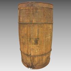 Antique Wood Nail Hardware Barrel Keg