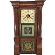 Antique 1840s Forestville Mfg Co (J C Brown) Triple Decker Column & Cornice Clock Not Running