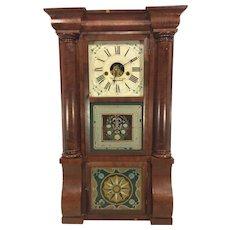 Antique 1840s Forestville Mfg Co (J C Brown) Triple Decker Column & Cornice Clock Not Running