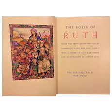 The Book of Ruth with Pictures by Arthur Szyk  Published by Heritage Press 1947 Slipcover