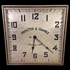Vintage Procter & Gamble Electric Wall Advertising Clock Runs  Kodel Electric & Mfg Co 1940s to 1950s