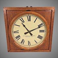 Vintage Standard Electric Time Co Wall Clock Oak Case Slave Clock