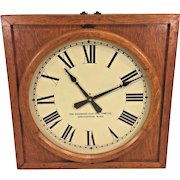 Vintage Standard Electric Time Co Wall Clock Oak Case Slave Clock
