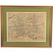 Gerard Mercator 16th C Antique Map  of Regional Germany Hannonia Namurcum  Comitatus