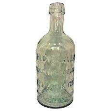 Antique Clear Glass Druggist Bottle H C Blair Philadelphia PA