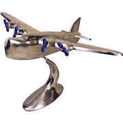 Vintage Aluminum Model of a WWII US PBY Coronado or British Sunderland Sea Plane