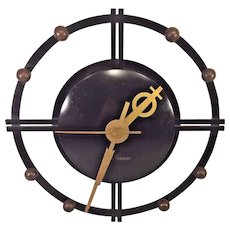 Vintage Seth Thomas Sphere Wall Clock Model E940 Running