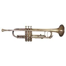 Antique M J Kalashen Trumpet with Case & Mouthpiece (Conn Stencil Trumpet) 1930s