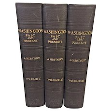 3 Vols Washington Past and Present A History by John Clagett Proctor 1930 First Edition Lewis Historical Publ Co, New York