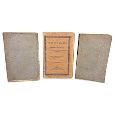 1821 and 1829 French Tour Books Des Grande Routes Et Des Chemins Cicinaux 1829 by Berthault Ducreux & 2 Vols Itineraire Descriptie de La France et De L'Italie Routes De Paris 1818 & 1821 by Vaysee De Villiers