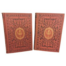 2 Books of Poetical Works by Coleridge and Campbell Matching Book Covers Cambridge Edition American Publishers Corporation New York