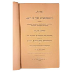 Annals of the Army of the Cumberland 1863 1st Edition  by an Officer (John Fitch) J B Lippincott Philadelphia Book Owned by Capt Heber Thompson of the 7th Pennsylvania Cavalry