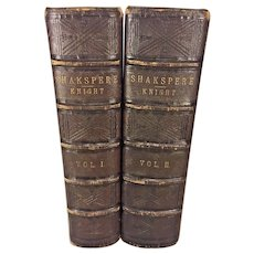 The Works of William Shakespeare 2 Vol Imperial Edition w/ Notes by Charles Knight  Steel Plate Illustrations  Published by Virtue & Yorston of London and New York 1880s