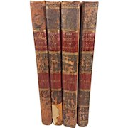 Der Messias The Messiah 4 Volume Set  by Friedrich Klopstock 1799 Publisher George Goschen in Leipzig Previous Owner - Margaret Colquhoun of Scotland 1st Full Finalized Edition in the German Language