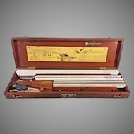 Vtg Leroy Lettering Kit by Keuffel & Esser Co. in Wood Case 1950
