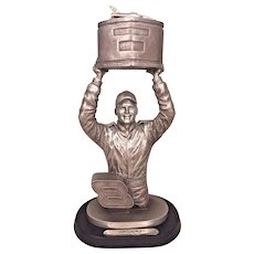 "Dale Earnhardt Jr Statue ""Winning"" Jr Holding Trophy from Indianapolis 500 Win"