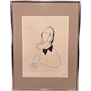 Al Hirschfeld Ltd Edition Lithograph of Bob Hope #40of 200  from 1983 w/ Certificate of Authenticity by George Goodstadt