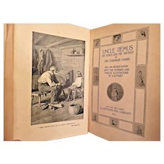 Uncle Remus by Joel Chandler Harris 1924 D Appleton & Company New York