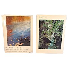 2 Eliot Porter Nature Photography Books w/ Dust Covers 1 1st Edition 1962 and 1966
