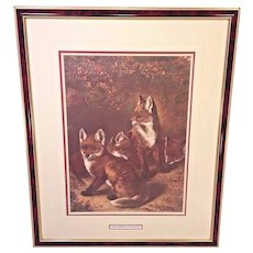 "Vintage Samuel J Carter Print ""Young Freebooters"" 1880 Professionally Framed & Matted"