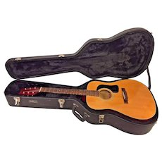 Vintage George Washburn Guitar with Case  Model D-10N