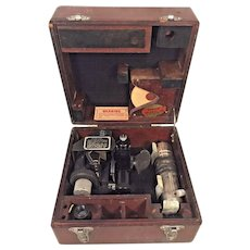 Vintage Army Air Corps Fairchild A-10 Sighting Mechanism WWII Sextant in Wood Case