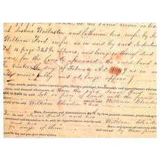 1852 Indenture/Deed Document New Castle County Delaware Between Ford and Cleadin
