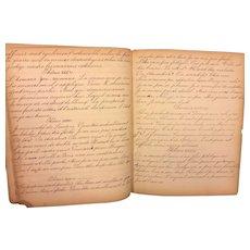 Antique School Handwritten Work Theme Book Dublin PA 1859