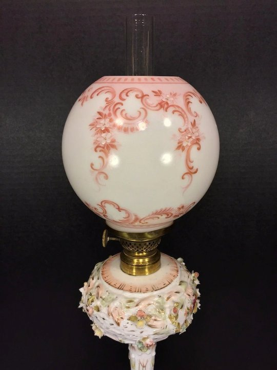 Vintage Rayo light lamp table floral collectible Victorian Plume Atwood  Victorian