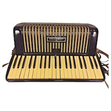 Vintage Wurlitzer Accordion in Case
