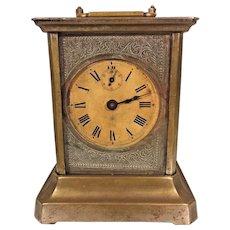 Antique Junghans Joker Carriage Clock w/ Music Box Alarm Runs Music Box Not Playing