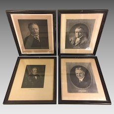 Antique Lithographs of Presidents  William Harrison, Herbert Hoover, Woodrow Wilson and William Taft    (#5 of 5)