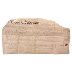 1781 Parchment Deed Indenture Philadelphia Peter Whiteside & Francis Knox  Antique Philadelphia PA Indenture