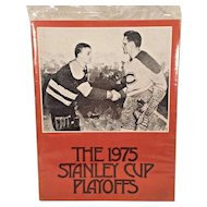 1975 Stanley Cup Playoffs Program Book  National Hockey League